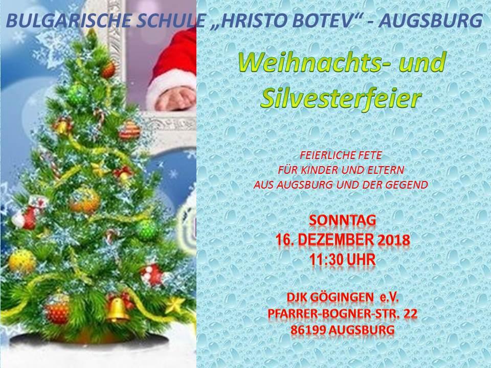 abgeholt Auf Abstand Gute Preise Weihnachts- und Silvesterfeier | Българско училище